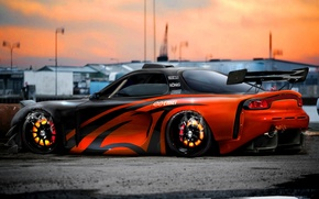 Picture tuning, virtual tuning, Mazda rx7