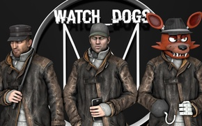 Picture Watch Dogs, Aiden Pearce, Five Nights At Freddys, garrys mod.