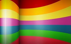 Wallpaper color, bending, strip