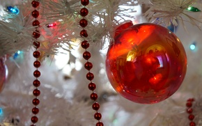 Picture new year, ball, Christmas, decoration