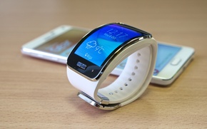 Picture Samsung, the watch phone, smartphone watch, Samsung Galaxy Note 4, Gear S