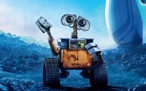 Wallpaper pixar, animation, wall-e