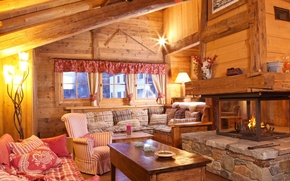 Picture design, house, style, room, interior, fireplace, cottage