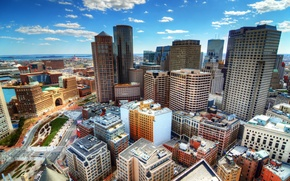 Picture home, skyscrapers, USA, Boston, the view from the top, Boston