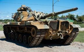 Wallpaper tank, USA, armor, average, M60, 1960-ies