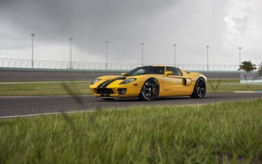 Picture Ford GT, yellow, track, HRE, RS105