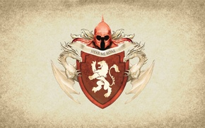 Picture lion, symbol, series, dragon, A Song of Ice and Fire, Game of Thrones, shield, Lannister, …