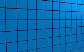 Picture blue, cubes, texture