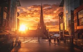 Picture city, the city, England, the evening, Birmingham, Birmingham
