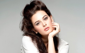 Picture girl, actress, beauty, girl, beautiful, model, pretty, beauty, brunette, cute, actress, celebrity, bollywood, Evelyn Sharma