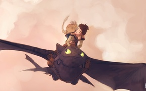 Wallpaper to tame, dragon, the sky, as