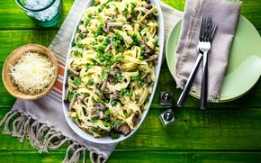 Wallpaper mushrooms, cheese, peas, spices, mushrooms, cheese, pasta, pasta