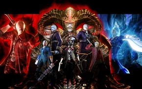 Picture sword, demons, nero, dante, Devil May Cry, Sparda, Virgil, Devil May Cry 4: Special Edition, ...