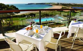 Picture sea, beach, restaurant, the hotel, terrace, Portugal, martinhal beach
