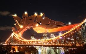 Wallpaper Lights, Graffiti, Bridge