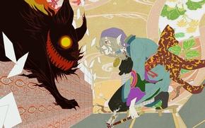 Picture monster, the demon, art, Anime, guy, Anime, Mononoke, Kusuriuri