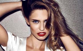 Picture eyes, look, girl, face, model, hair, makeup, blue, brown hair, Bianca Balti, Bianca Balti