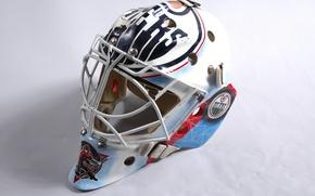 Picture mask, hockey, goalkeeper, hockey, mask, Edmonton, oilers, gage, gage, oilers, edmonton