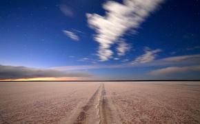 Picture the sky, stars, nature, lake, salt, salt lake