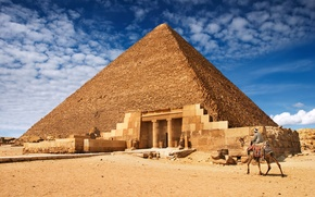 Picture landscape, pyramid, Egypt, architecture, Egypt