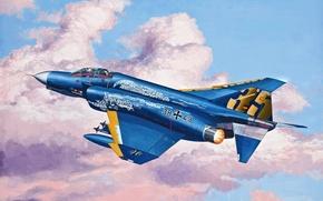 Picture art, painting, jet, F-4 Phantom JG 71 Richthofen