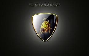 Picture reflection, background, Lamborghini, mark