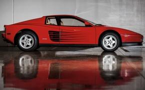 Picture Red, Reflection, Auto, Machine, Ferrari, Car, Testarossa