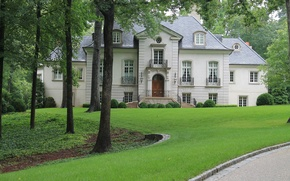 Picture the city, house, architecture, mansion, exterior, Atlanta