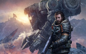 Picture snow, weapons, robot, ice, mechanisms, game wallpapers, Lost Planet 3