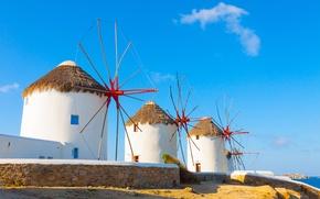 Picture the sky, landscape, nature, Santorini, Greece