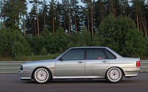 Picture Audi, Sedan, Quattro, 1984, Four-wheel drive, In profile