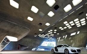 Wallpaper Audi R8, Garage, Architecture, The building