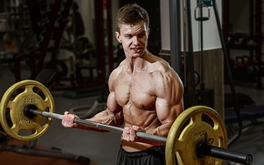Picture weightlifter, muscles, training, strength