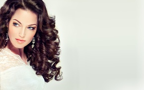 Picture face, style, background, model, hair, Girl, earrings, hairstyle, fashion, beauty, make up