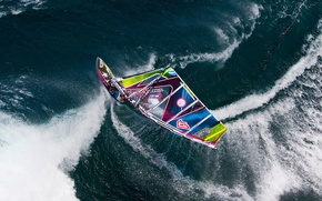 Picture water, squirt, the ocean, sport, sail, Board, Windsurfing, Windsurfing