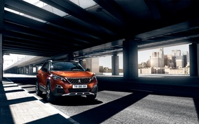 Picture car, auto, city, the city, Peugeot, wallpaper, crossover, 3008