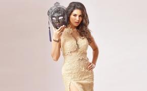 Wallpaper girl, sexy, Sunny Leone, eyes, smile, beautiful, model, pretty, beauty, lips, hair, brunette, pose, cute, ...