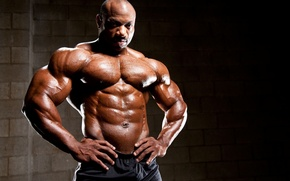 Picture muscles, press, pose, abs, bodybuilder, Dexter Jackson, Dexter Jackson