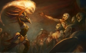 Picture woman, zombies, Diablo 3, the sorcerer, fan art, Witch Doctor