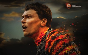 Picture Fire, Sport, Face, Football, Miner, Player, Andriy Pyatov, Coal