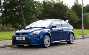 Picture ford, blue, street, focus