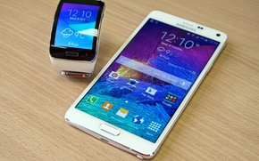 Picture Samsung, Samsung Gear S, SmartPad, the watch phone, smartphone watch, Galaxy Note 4