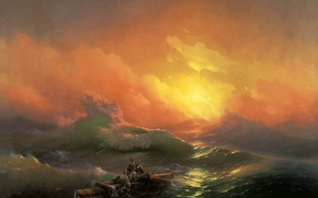Wallpaper sea, Aivazovsky, storm, The ninth wave