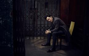 Wallpaper chair, Jason Bell, photoshoot, grille, Vanity Fair, Benedict Cumberbatch, Benedict Cumberbatch