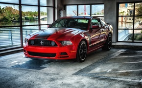 Picture Mustang, red, ford, 302, Boss, room