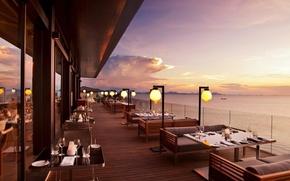 Picture style, interior, restaurant, terrace
