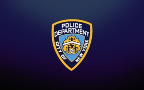 Picture BLUE, SHIELD, LOGO, NYPD