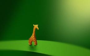 Picture toy, giraffe, vladstudio, green background