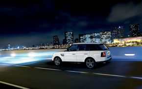 Wallpaper jeep, Range Rover, Land Rover, speed, the city