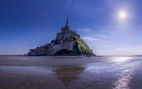 Picture France, Mont-Saint-Michel, UNESCO, world heritage, the island fortress of, The mont Saint Michel
